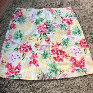 HeartSoul Hawaiian Tiki Print Cotton Skirt sz 3